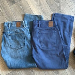 2 for $35 GAP men's khaki and denim jeans